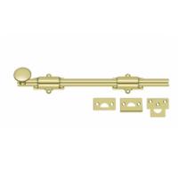 "Deltana 12SB 12"" Solid Brass Heavy Duty Surface Bolt Polished Brass"