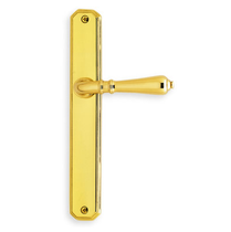 Omnia 13752 Narrow Plate Latchset Polished Brass (US3)