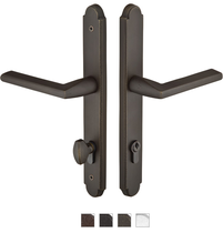 Emtek 1511 Configuration #5 SandCast Bronze ARCHED Euro Style Multi-Point Trim f