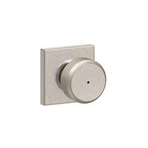 Schlage F40-BWE-COL Bowery Privacy Door Knob Set with Collins Rose
