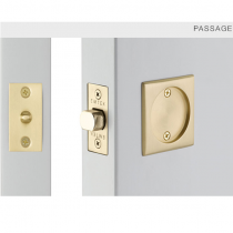 Emtek 2134 Square Pocket Door Tubular Lock Satin Brass