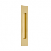 "Emtek 220310 10"" Modern Rectangular flush pull in satin brass finish"
