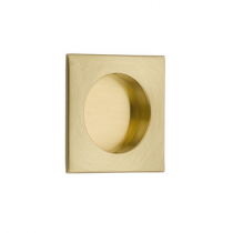 Emtek 2213 Square Flush Pull Satin Brass
