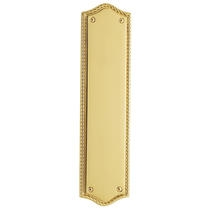 Baldwin 2285 Bristol Push Plate in Polished Brass (030)