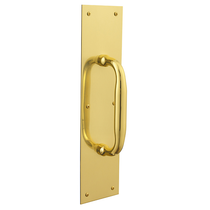 Baldwin 2331, 2335, 2337 Push Plate with 2560 Pull lifetime polished brass (003)