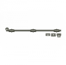 "Deltana 24SB 24"" Solid Brass Heavy Duty Surface Bolt Antique Nickel (US15A)"
