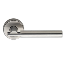 Omnia 25 Stainless Steel Door Lever Latchset Brushed Stainless Steel (US32D)