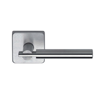 Omnia 25S Stainless Steel Door Lever Latchset with Square Rose