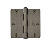 "Emtek 3-1/2"" Radius Corner Brass Heavy Duty Hinges"