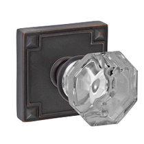 Fusion Motif Glass Door Knob with Sonoma Rose Oil Rubbed Bronze (ORB)