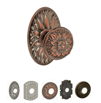 Fusion Bella Villa Collection Floral Door Knob 35 with choice of Rose