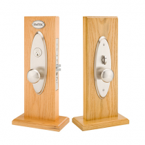 Emtek Memphis Mortise Entrance Lockset with Providence Knob