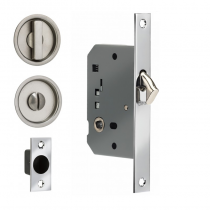 Omnia 3910S Sliding Door Lock in Polished Chrome