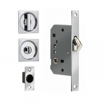 Omnia 3911s Sliding Door Lock Polished Chrome