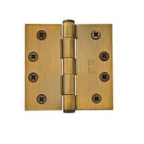 "Emtek 4-1/2"" x 4-1/2"" Solid Brass Square Corner Heavy Duty Hinges 96215"
