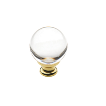 Baldwin Crystal Cabinet Knob (4300/4301/4302) Polished Brass (030)