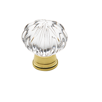 Baldwin Crystal Cabinet Knob (4326, 4327, 4328) shown in Polished Brass (030)