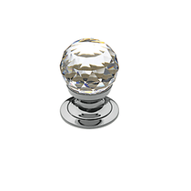Baldwin Swarovski® Crystal Cabinet Knob (4332, 4334, 4336) in Polished Chrome