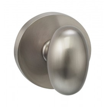 Omnia 434MD-15 Egg Door Knob Set with Modern Rose from the Prodigy Collection