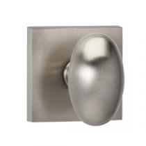Omnia 434SQ Egg Door Knob Set with Square Rose