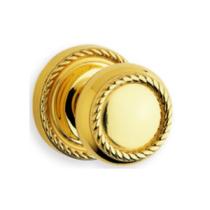 Omnia 441 Knob Latchset Polished Brass (US3)