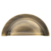 Baldwin Cabinet Pull (4423, 4424) shown in Satin Brass & Black (050)