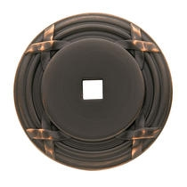 Baldwin Round Edinburgh Cabinet Knob Back Plate (4613) shown in Venetian Bronze