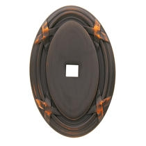Baldwin Oval Edinburgh Cabinet Knob Back Plate (4619) shown in Venetian Bronze