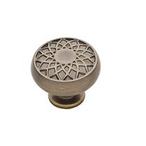 Baldwin 4636 Couture Collection Cabinet Knob in Satin Brass & Black