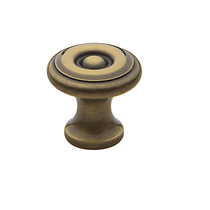 Baldwin Colonial Cabinet Knob (4650, 4655, 4660) shown in Satin Brass & Black