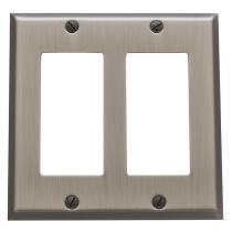 Baldwin Beveled Edge Double GFCI Switch Plate