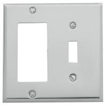 Baldwin Beveled Edge GFCI/Single Toggle Switch Plate