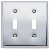 Baldwin Beveled Edge Double Toggle Switch Plate