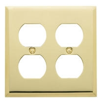 Baldwin Beveled Edge Double Duplex Switch Plate