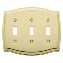 Baldwin Colonial Triple Toggle Switch Plate