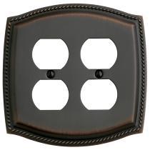 Baldwin 4794 Rope Design Double Duplex Switch Plate
