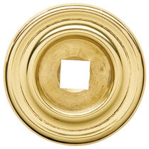 Baldwin 4900 Cabinet Knob Back Plate shown in Polished Brass (030)