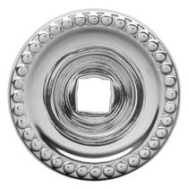 Baldwin 4901 Cabinet Knob Back Plate shown in Polished Chrome (260)
