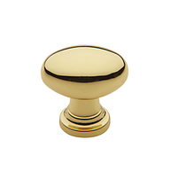 Baldwin Oval Cabinet Knob (4910, 4913, 4939) shown in Polished Brass (030)