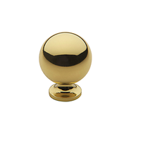 Baldwin Spherical Cabinet Knob (4960, 4961, 4968) shown in Polished Brass (030)
