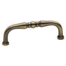 Baldwin Colonial Cabinet Pull (4962, 4963) shown in Satin Brass & Black (050)