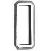 Omnia 654 Traditional Flush Pull Polished Chrome (US26)