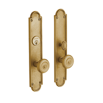 Baldwin Estate 6541 San Francisco Mortise Entrance Set in Vintage Brass