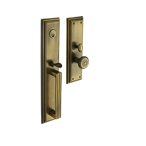 Baldwin Estate 6542 Tremont Mortise Handleset in Satin Brass & Black (050)