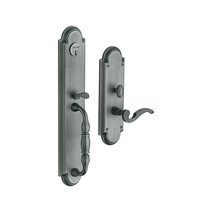 Baldwin Estate 6544 Hamilton Mortise Handleset in Distressed Antique Nickel 452