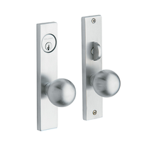 Baldwin Estate 6548 Detroit Mortise Entrance Set in Satin chrome