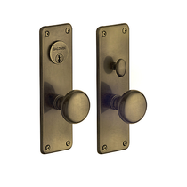 Baldwin Estate 6551 Reading Mortise Entrance Set in Satin Brass & Black