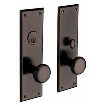 Baldwin Estate 6552 Baltimore Mortise Entrance Set Venetian Bronze