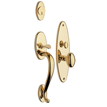 Baldwin Estate 6560 Lexington Mortise Handleset Polished Brass (030)