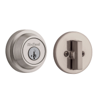 Kwikset 660CCR Smart Key Grade 3 Contemporary Single Cylinder Deadbolt Satin Nickel